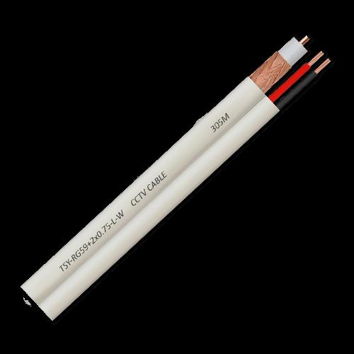 Cablu coaxial RG59 + alimentare 2x0.75'100m'alb TSY-RG59+2X0.75-L-W [0]