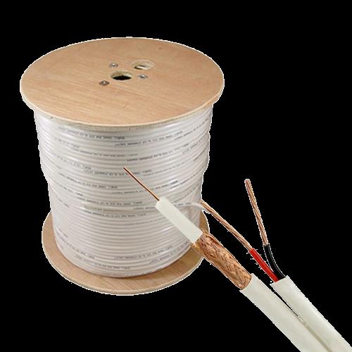 Cablu coaxial RG59 + alimentare 2x0.75'305m'alb TSY-RG59+2X0.75-W [0]