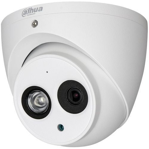 Camera de supraveghere Dahua HAC-HDW1200EM-A, HD-CVI, Dome, 2MP 1080P, CMOS 1/2.7'',2.8 mm, 1 LED Array, IR 50m, IP67, Microfon, Carcasa metal [0]