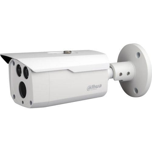 Camera de supraveghere Dahua HAC-HFW1200D, HD-CVI, Bullet, 2MP, 3.6mm, EXIR 2 LED Arrays, IR 80m, D-WDR, Rating IP67, Carcasa aluminiu [0]