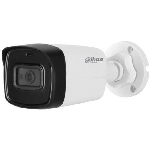 Camera de supraveghere Dahua HAC-HFW1200TL-A, HD-CVI, Bullet, 2MP 1080P, CMOS 1/2.7'', 3.6mm, 2 LED IR 80m, IP67, Microfon, Carcasa metal+plastic [0]
