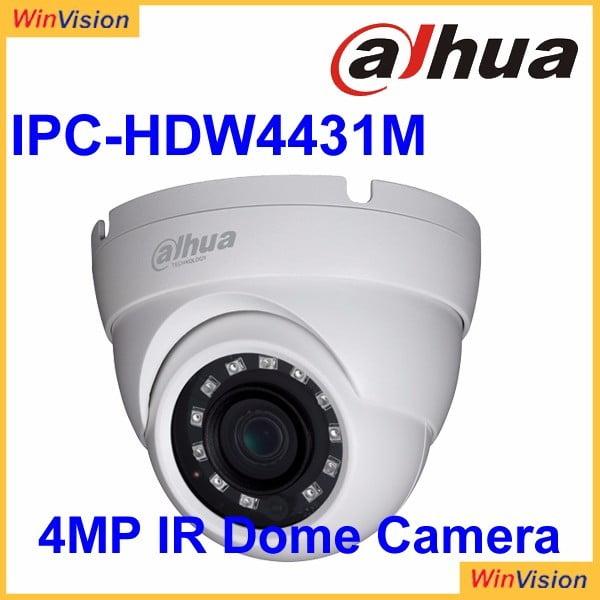 Camera dome IP Dahua IPC-HDW4431M 4MP, 2.8mm, IR 30m, IP67, PoE, functii IVS, WDR 120dB [0]