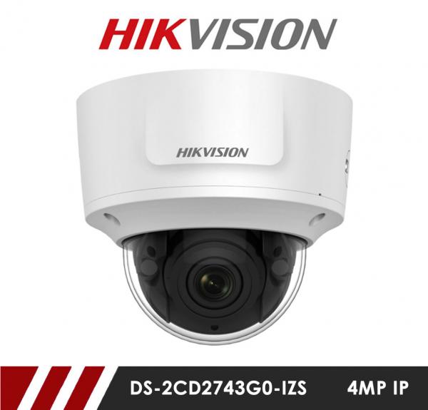 Camera supraveghere Dome IP Hikvision DS-2CD2743G0-IZS, 4 MP, IR 30 m, motorizat 2.8 - 12 mm [0]