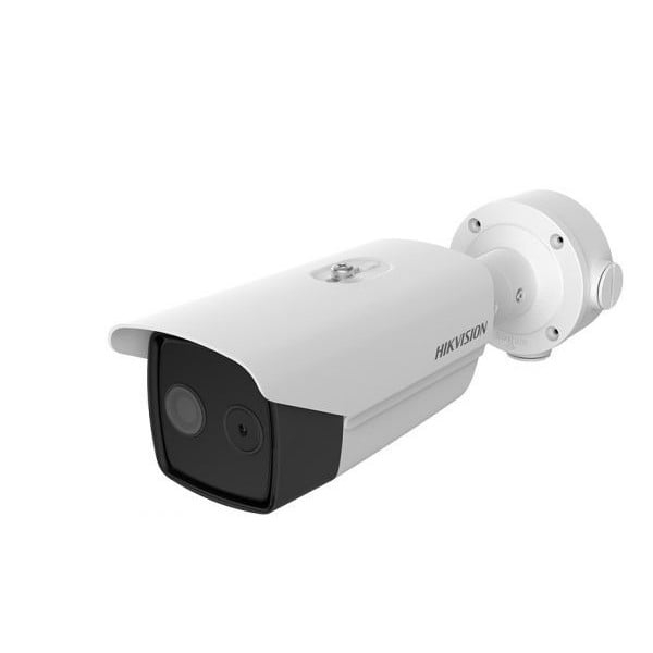 Camera supraveghere Termala Hikvision DS-2TD2617B-6/PA de precizie  pentru detectia de la distanta a persoanelor cu febra [0]