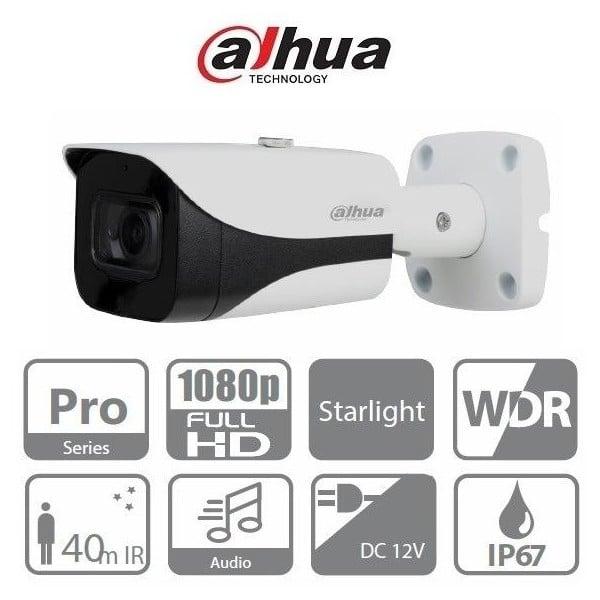 Camera supraveghere video exterior Dahua HAC-HFW2241E-A-0360B, 2 MP, IR 40 m, 3.6 mm, microfon [0]