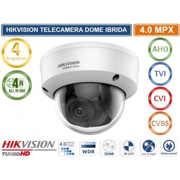 Camera Turbo HD Hikvision HiWatch HWT-D340-VF, 4 MP, lentila varifocala 2.8 mm-12 mm, 4in1, EXIR 2.0, Smart IR 40 m, IP66, IK10 [0]