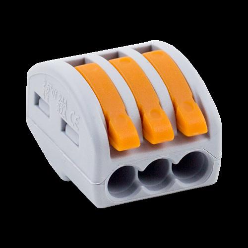 Conector derivatie tip WAGO 3 fire (10 buc.) [0]
