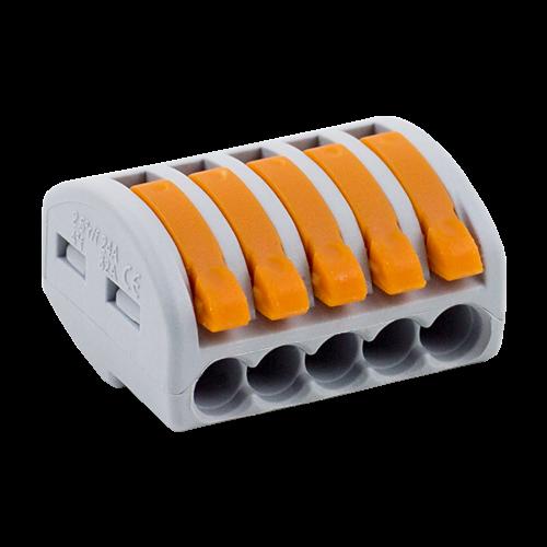 Conector derivatie tip WAGO 5 fire (10 buc.) [0]