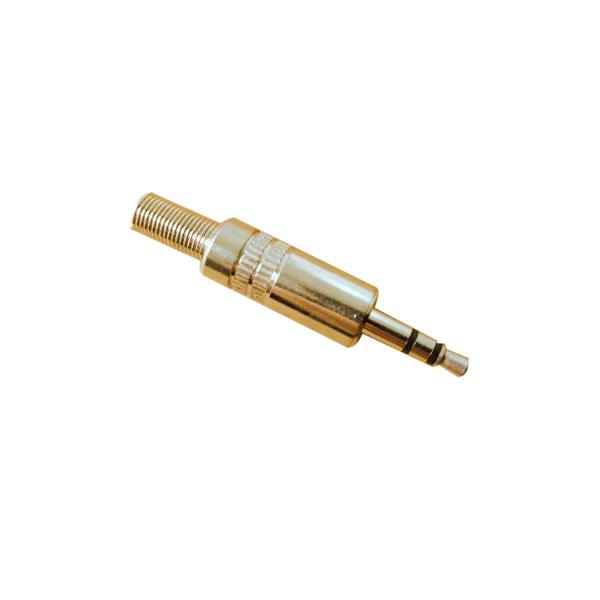 Conector Mufa JACK 3.5  metal (tata) AUDIO cu lipire fir central pe surub [0]
