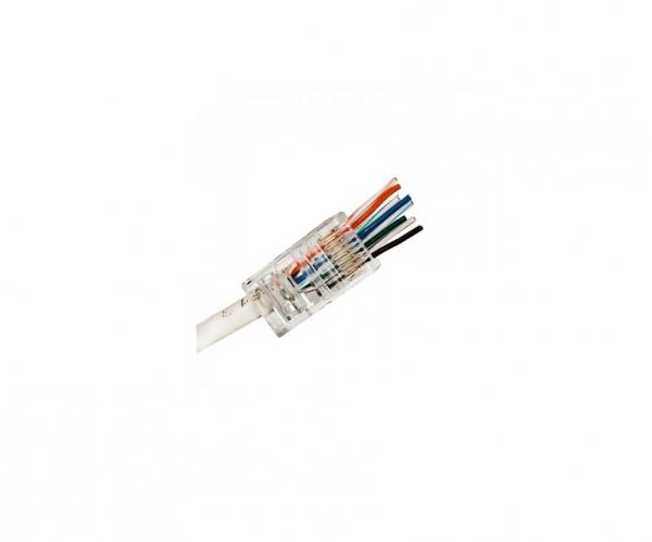 Conector Mufa retea UTP RJ45 CAT 5 Pass through connector [0]
