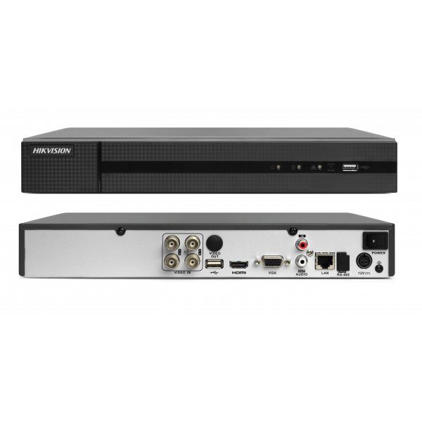 DVR 4 canale Turbo HD Hikvision HiWatch HWD-7104MH-G2(260) H.265 Pro+, 5MP, stocare in Cloud [0]