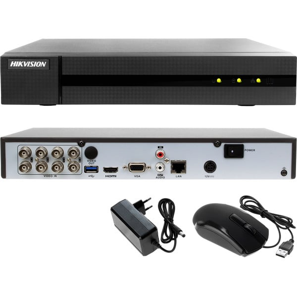 DVR 8 canale Turbo HD HiWatch Hikvision HWD-7108MH-G2(260), 8MP, H.265 Pro+, 5 in 1 [0]
