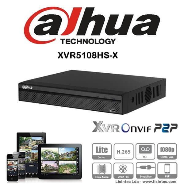 DVR HDCVI 8 canale 4k Pentabrid Full HD compresie H.265 Dahua, XVR5108HS-X [0]