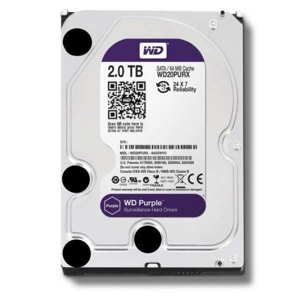 HDD Western Digital Surveillance Purple intern 2TB WD20PURX [0]