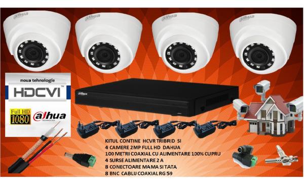 Kit 4 camere de supraveghere DAHUA 2MP 1080P complet [0]