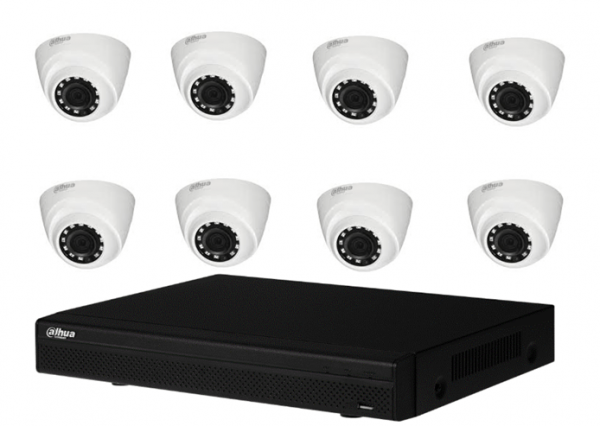 Kit 8 Camere Supraveghereinterior Dahua 2MP, 1080P, 20m IR, DVR 8 canale [0]