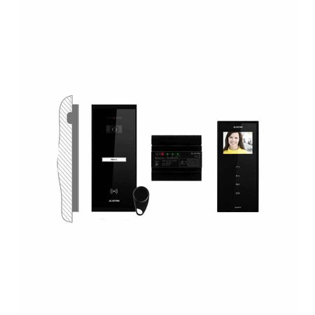 Kit videointerfon 1 familie aparent 3,5 Electra touch line smart VKM.P1SR.T3S4.ELB04 [2]