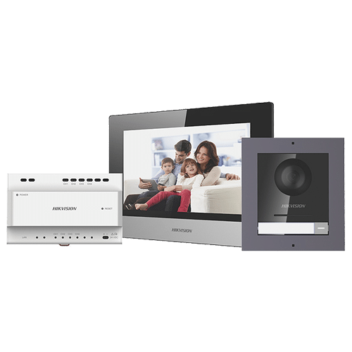 Kit videointerfon IP 7inch'conectare 2 fire - HIKVISION DS-KIS702 [0]