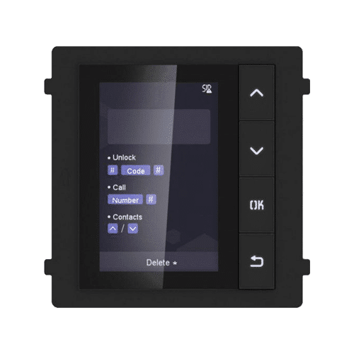 Modul afisaj LCD TFT pentru Interfon modular - HIKVISION DS-KD-DIS [0]