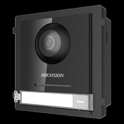 Modul Master pentru Interfonie modulara echipat cu camera video 2MP fisheye si un buton apel  - HIKVISION [0]