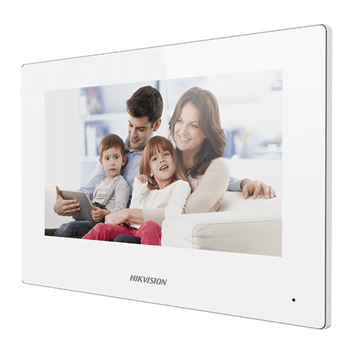 Monitor videointerfon TCP/IP Wireless'Touch Screen TFT LCD 7inch'alb - HIKVISION DS-KH6320-WTE1-W [0]