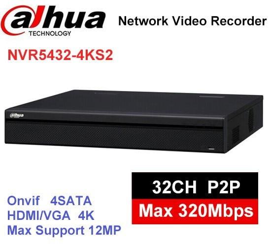 NVR 32 canale DAHUA NVR5432-4KS2, rezolutie 12MP, banda 320Mbps, 4xHDD [0]