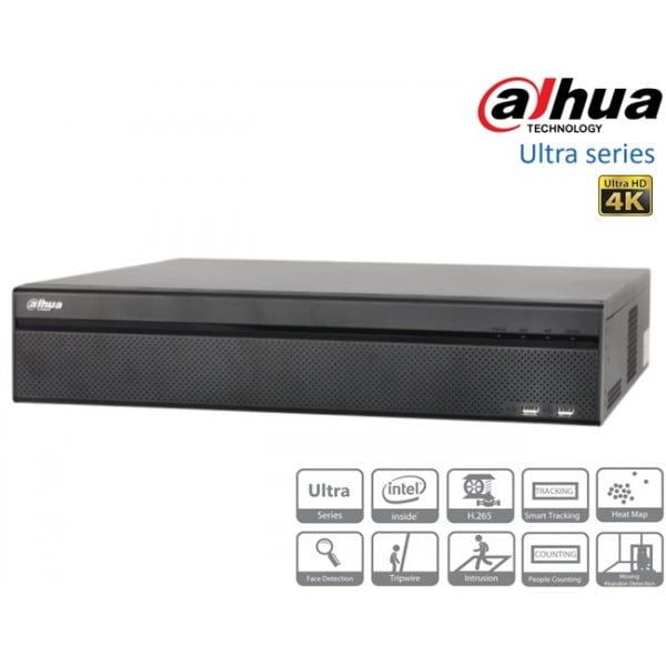 NVR 32 canale Dahua NVR608-32-4KS2 8xSATA, ANR, functii IVS, HDMI 4K, 16 intrari alarma, ONVIF [0]
