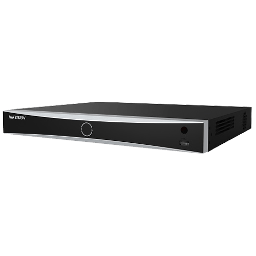 NVR AcuSense 16 canale 12MP + 16 PoE, tehnologie 'Deep Learning' - HIKVISION [0]
