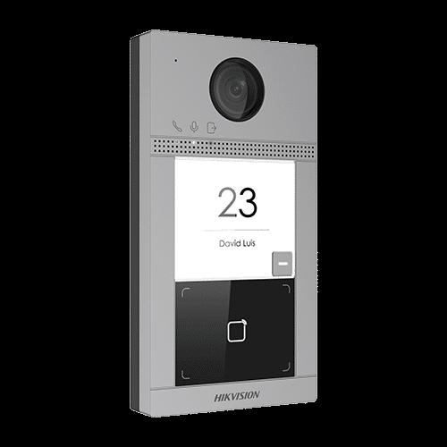 Panou exterior videointerfon TCP/IP pentru 1 familie'Wi-Fi 2.4GHz'control acces integrat - HIKVISION DS-KV8113-WME1 [0]