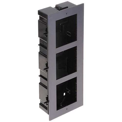 Rama montaj ingropat, 3 module, pentru Interfon modular - HIKVISION [0]