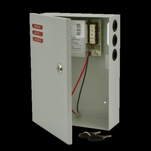 Sursa de alimentare 12V, 5A, back-up in cabinet metalic [0]