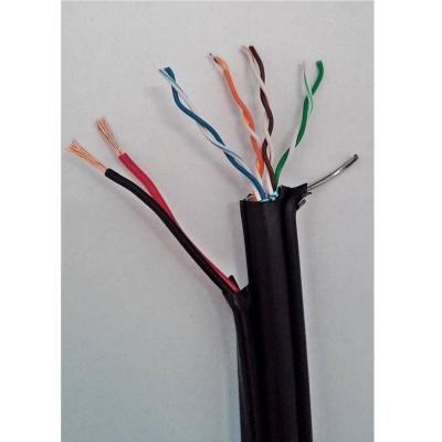 Cablu FTP cu sufa CAT5E 24AWG + alimentare 2x0.75 rola 305m [0]