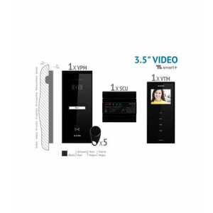 Kit videointerfon 1 familie aparent 3,5 Electra touch line smart VKM.P1SR.T3S4.ELB04 [1]