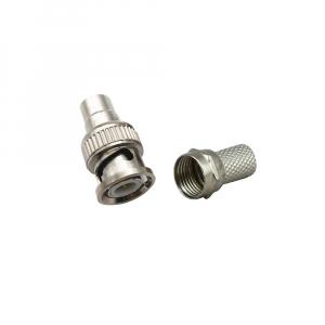 Mufa conector bnc camera supraveghere pentru cablu coaxial rg6   mufa F [1]