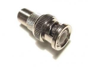 Mufa conector bnc camera supraveghere pentru cablu coaxial rg6   mufa F [0]