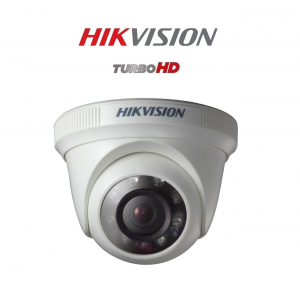 Sistem supraveghere video mixt  Hikvision 2 camere Turbo HD IR 20 M  cu DVR Hikvision 4 canale, full accesorii [1]