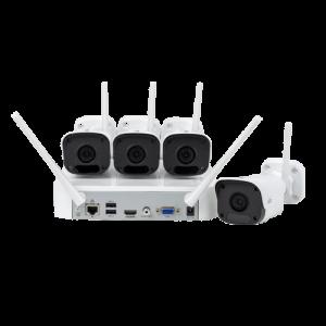Sistem wireless de monitorizare video camere IP exterior 2 MP sd card FULL HD UNV KIT-2122F40W-4B [0]