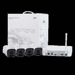 Sistem wireless de monitorizare video camere IP exterior 2 MP sd card FULL HD UNV KIT-2122F40W-4B [2]