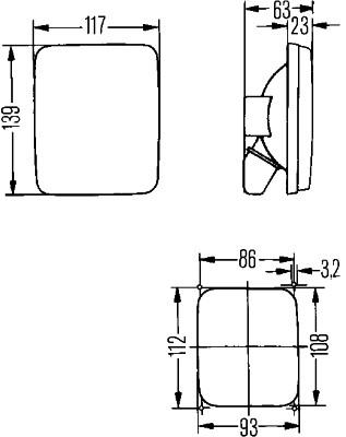 Dispersor lampa spate NEOPLAN N407 dupa 1983 0