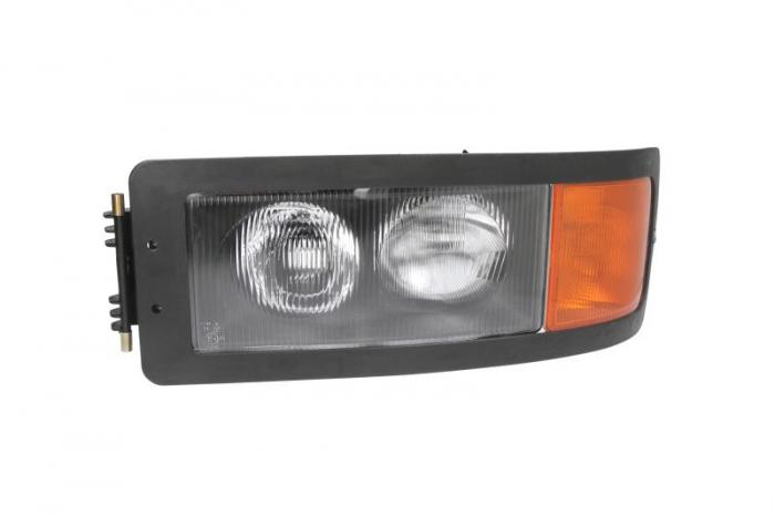 Far stanga H1/H4/W5W, manual, fundal negru, culoare Semnalizator portocaliu MAN F 2000 dupa 1994 [0]