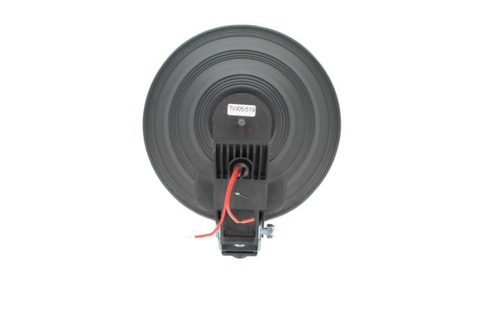 Far universala stanga/dreapta faza lunga, H1, 12/24V, diametru 225mm, alb, plastic, negru, halogen,lumina pozitie LED, rama cromat 1