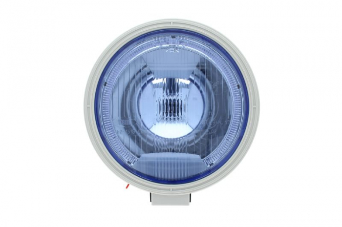 Far universala stanga/dreapta , H1, 12/24V, diametru 225mm, albastru plastic, negru, halogen,lumina pozitie LED 0