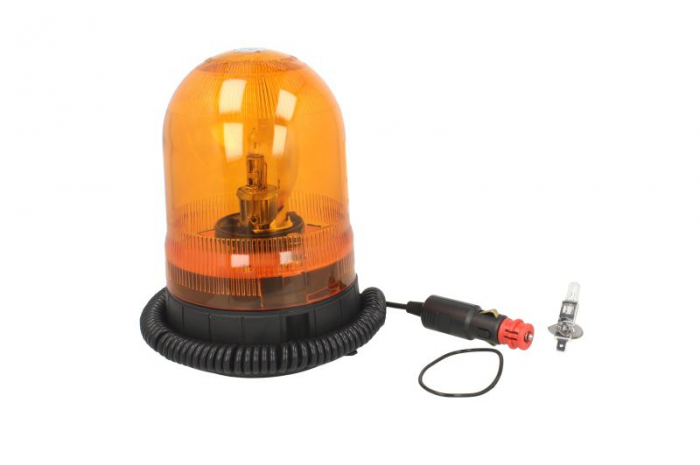 Girofar portocaliu, 12/24V, H1, fixare magnetica cablu 4m 0
