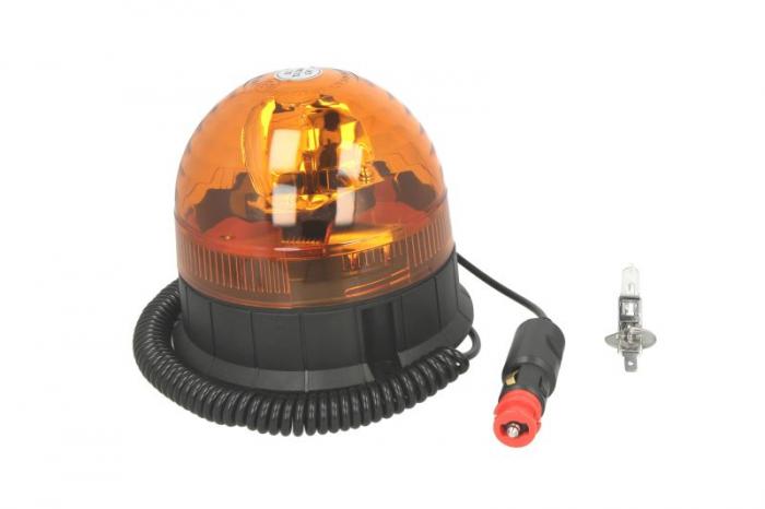 Girofar portocaliu, 12/24V, H1, fixare magnetica cablu 4m [0]