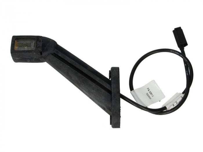 Lampa gabarit stanga, alb, LED latime 35, lungime cablu 500, 12/24V [0]