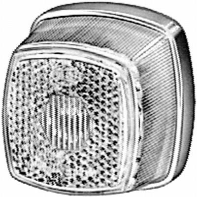 Lampa gabarit stanga/dreapta, alb, C5W, inaltime 62 latime 62 adancime 46, 12/24V 0