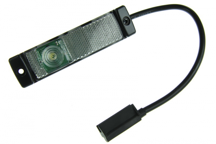 Lampa gabarit stanga/dreapta, alb, LED, inaltime 32 latime 130, lungime cablu 300, 24V 0