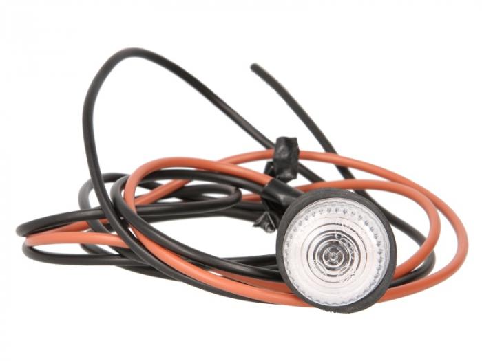 Lampa gabarit stanga/dreapta, alb, W5W, lungime cablu 1800, 12/24V [0]
