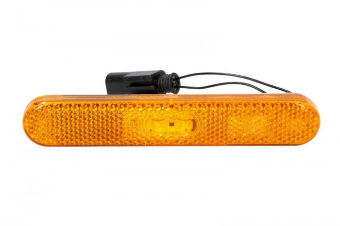 Lampa gabarit stanga/dreapta, galben, LED, inaltime 23,4 latime 134,9 adancime 9,5, lungime cablu 195, 24V 0