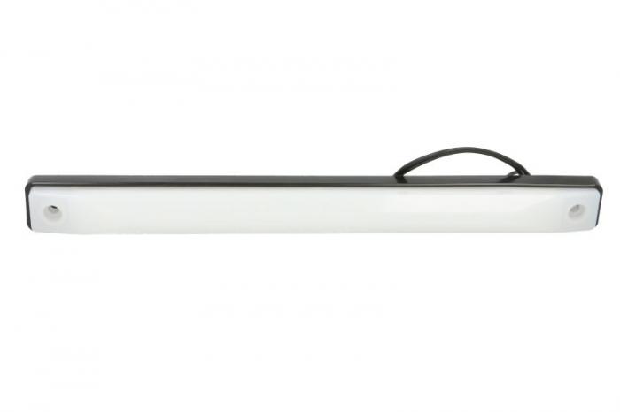 Lampa lumina interior alb, LED, 12/24V, suprafata, lungime 254mm, latime 24mm, inaltime 18mm, 0.3m fire 0